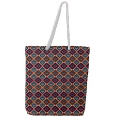 Native American Pattern 4 Full Print Rope Handle Tote (large) by Cveti