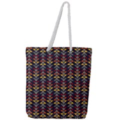 Native American Pattern Full Print Rope Handle Tote (large) by Cveti