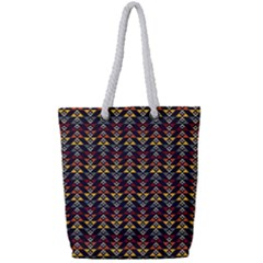Native American Pattern Full Print Rope Handle Bag (small) by Cveti