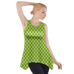 Pattern Side Drop Tank Tunic by gasi