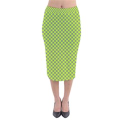 Pattern Velvet Midi Pencil Skirt by gasi