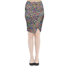Pattern Midi Wrap Pencil Skirt by gasi