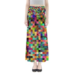 Pattern Full Length Maxi Skirt by gasi