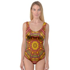 Sunshine Mandala And Other Golden Planets Princess Tank Leotard  by pepitasart