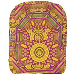 Sunshine Mandala And Other Golden Planets Full Print Backpack by pepitasart