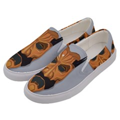 Mask India South Culture Men s Canvas Slip Ons by Celenk