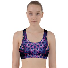 Mandala Circular Pattern Back Weave Sports Bra by Celenk