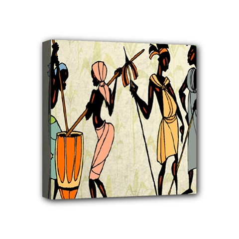 Man Ethic African People Collage Mini Canvas 4  X 4  by Celenk