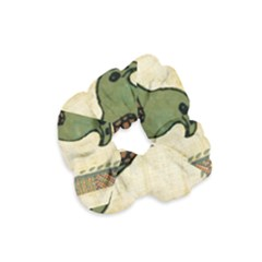 Egyptian Paper Papyrus Bird Velvet Scrunchie