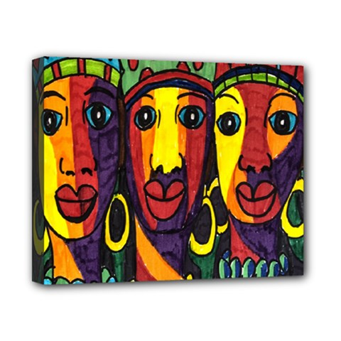 Ethnic Bold Bright Artistic Paper Canvas 10  X 8  by Celenk