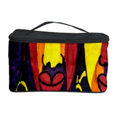 Ethnic Bold Bright Artistic Paper Cosmetic Storage Case by Celenk