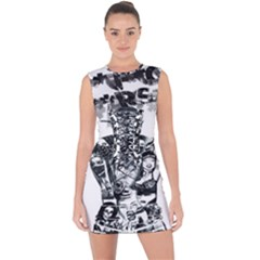 Black Music Urban Swag Hip Hop Lace Up Front Bodycon Dress
