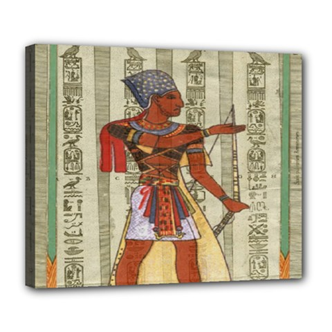 Egyptian Design Man Royal Deluxe Canvas 24  X 20   by Celenk