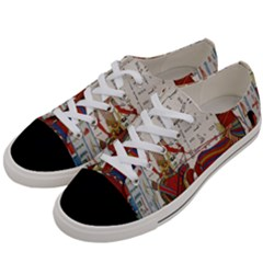 Egyptian Tutunkhamun Pharaoh Design Women s Low Top Canvas Sneakers by Celenk