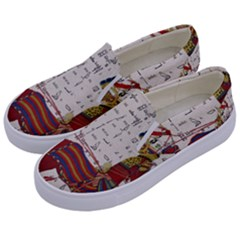 Egyptian Tutunkhamun Pharaoh Design Kids  Canvas Slip Ons by Celenk