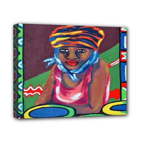 Ethnic Africa Art Work Drawing Canvas 10  X 8  by Celenk