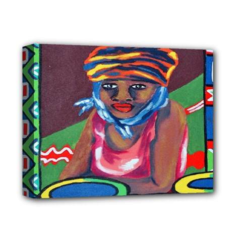Ethnic Africa Art Work Drawing Deluxe Canvas 14  X 11  by Celenk