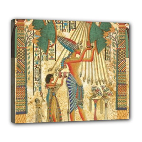 Egyptian Man Sun God Ra Amun Deluxe Canvas 24  X 20