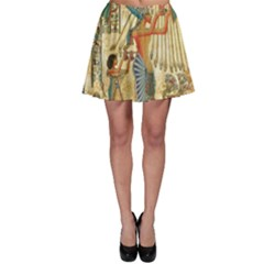 Egyptian Man Sun God Ra Amun Skater Skirt by Celenk