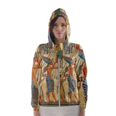 Egyptian Man Sun God Ra Amun Hooded Wind Breaker (women) by Celenk