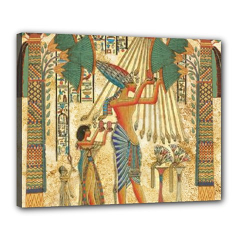 Egyptian Man Sun God Ra Amun Canvas 20  X 16  by Celenk