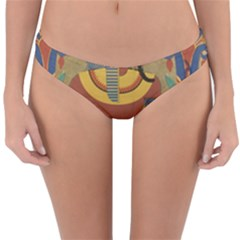 Egyptian Tutunkhamun Pharaoh Design Reversible Hipster Bikini Bottoms