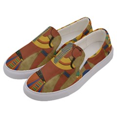 Egyptian Tutunkhamun Pharaoh Design Men s Canvas Slip Ons by Celenk