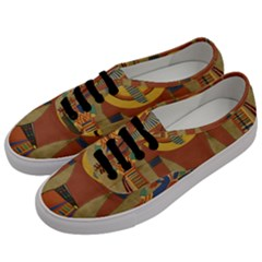 Egyptian Tutunkhamun Pharaoh Design Men s Classic Low Top Sneakers by Celenk