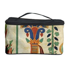 Egyptian Paper Papyrus Hieroglyphs Cosmetic Storage Case by Celenk