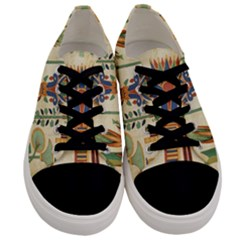 Egyptian Paper Papyrus Hieroglyphs Men s Low Top Canvas Sneakers