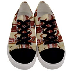 Egyptian Design Man Woman Priest Men s Low Top Canvas Sneakers