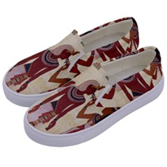 Egyptian Design Man Woman Priest Kids  Canvas Slip Ons by Celenk