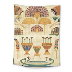 Egyptian Paper Papyrus Hieroglyphs Medium Tapestry