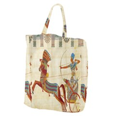 Egyptian Tutunkhamun Pharaoh Design Giant Grocery Zipper Tote