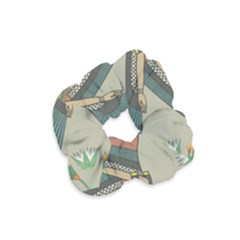 Egyptian Woman Wings Design Velvet Scrunchie