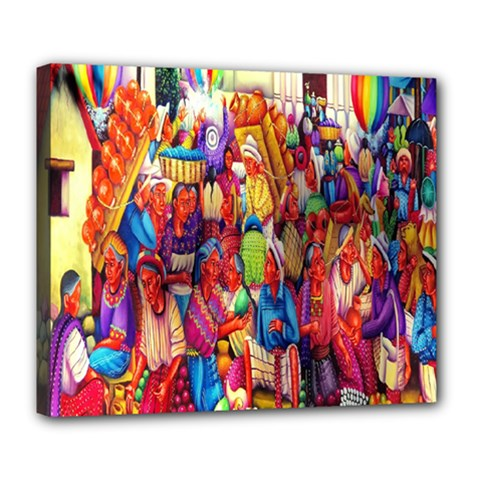 Guatemala Art Painting Naive Deluxe Canvas 24  X 20   by Celenk