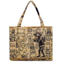 Mystery Pattern Pyramid Peru Aztec Font Art Drawing Illustration Design Text Mexico History Indian Mini Tote Bag