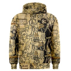 Mystery Pattern Pyramid Peru Aztec Font Art Drawing Illustration Design Text Mexico History Indian Men s Pullover Hoodie
