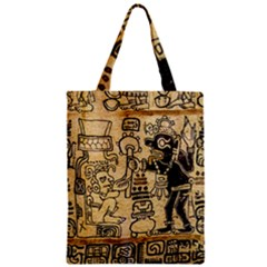 Mystery Pattern Pyramid Peru Aztec Font Art Drawing Illustration Design Text Mexico History Indian Zipper Classic Tote Bag by Celenk