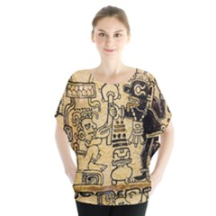 Mystery Pattern Pyramid Peru Aztec Font Art Drawing Illustration Design Text Mexico History Indian Blouse