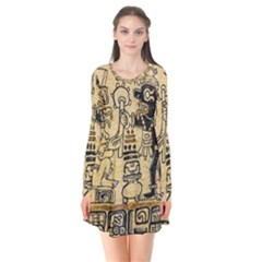 Mystery Pattern Pyramid Peru Aztec Font Art Drawing Illustration Design Text Mexico History Indian Flare Dress