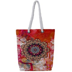 Mandala Art Design Pattern Ethnic Full Print Rope Handle Bag (small)