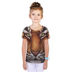 The Tiger Face Kids  One Piece Tee
