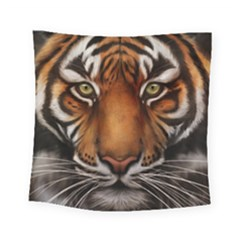 The Tiger Face Square Tapestry (small) by Celenk
