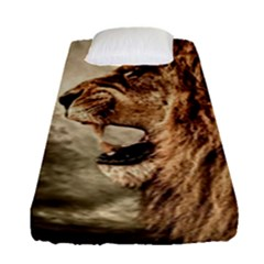 Roaring Lion Fitted Sheet (single Size) by Celenk