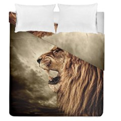 Roaring Lion Duvet Cover Double Side (queen Size) by Celenk