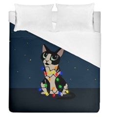 Meowy Christmas Duvet Cover (queen Size)