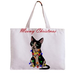 Meowy Christmas Zipper Mini Tote Bag by Valentinaart