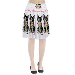 Meowy Christmas Pleated Skirt