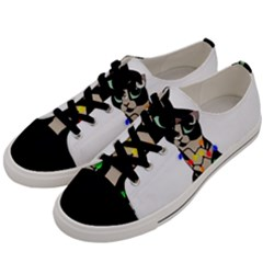 Meowy Christmas Men s Low Top Canvas Sneakers by Valentinaart
